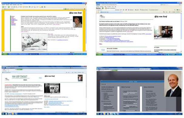 Eerdere websites van Gijs van Loef